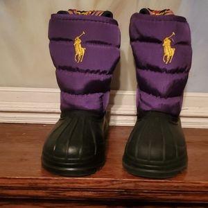 Polo Ralph Lauren Hamilten II EZ Boots Purple 9c